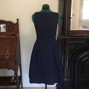 L.L. Bean navy a-line cotton dress